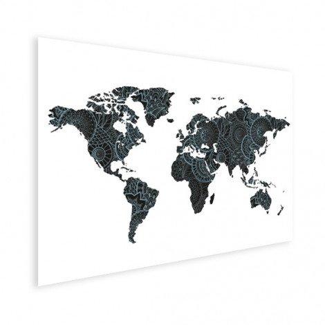 Imprimé asiatique noir et bleu affiche