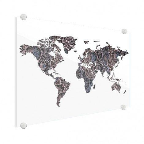 Imprimé asiatique noir et rose plexiglas