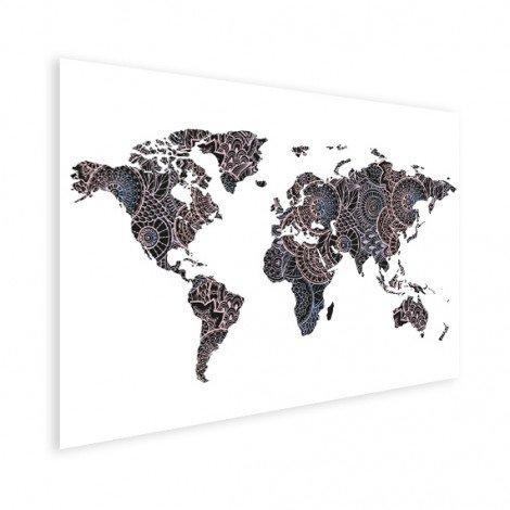 Imprimé asiatique noir et rose affiche