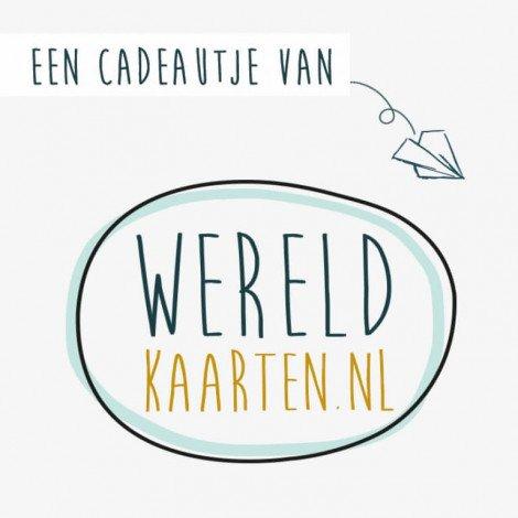 Cadeaubon €25,- Wereldkaarten.nl
