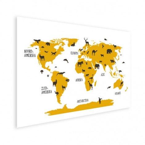 Animaux jaunes affiche