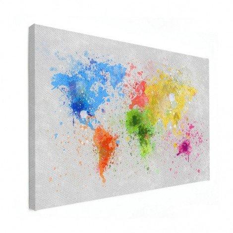 Encre colorée toile