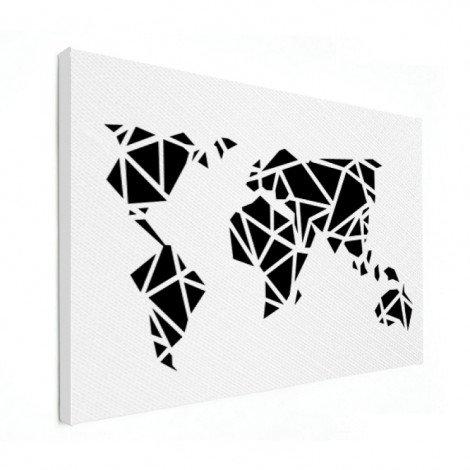 Géométrique noir toile