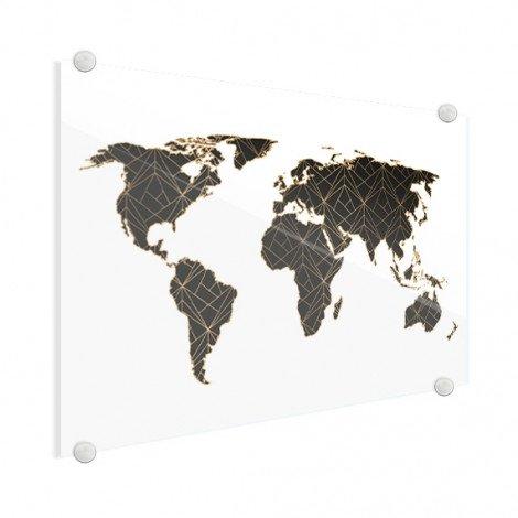 Géométrique noir et or plexiglas