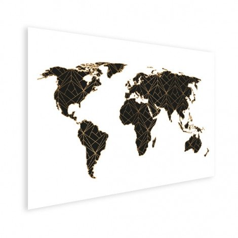 Géométrique noir et or affiche