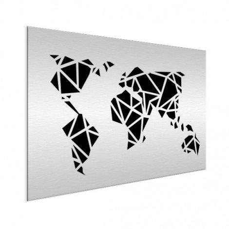 Géométrique noir aluminium