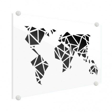 Géométrique noir plexiglas