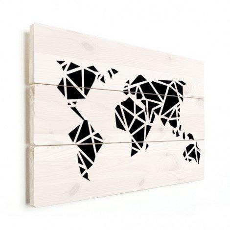 Géométrique noir bois