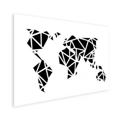 Géométrique noir affiche