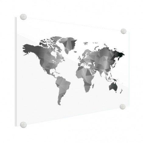 Géométrique en noir et blanc plexiglas