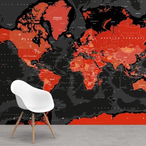 Rouge et noir papier peint