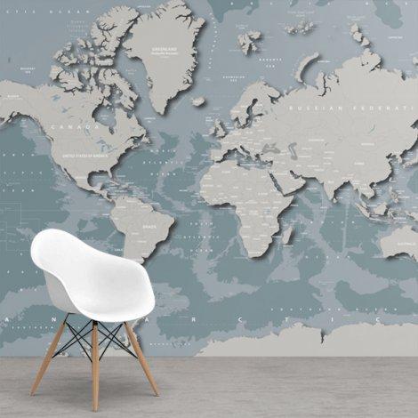Cool papier peint - Carte du monde sur papier peint - Cartes du monde