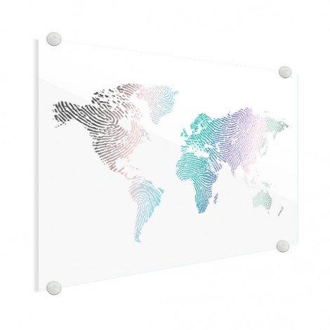 Empreinte digitale couleur sur plexiglas