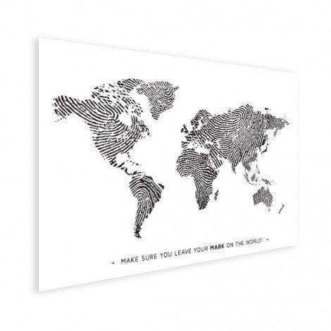 Empreinte digitale noir et blanc avec texte affiche