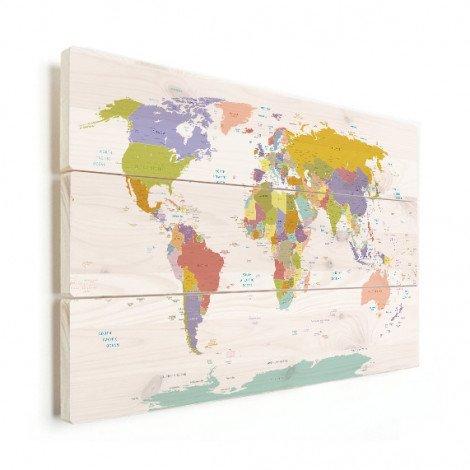 Tous les pays - pastel sur bois