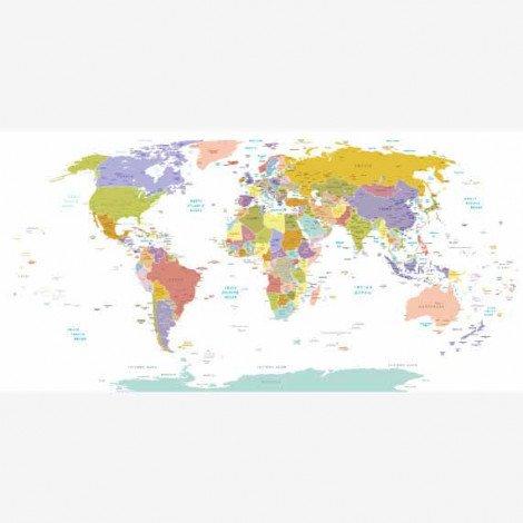 Tous les pays - pastel affiche