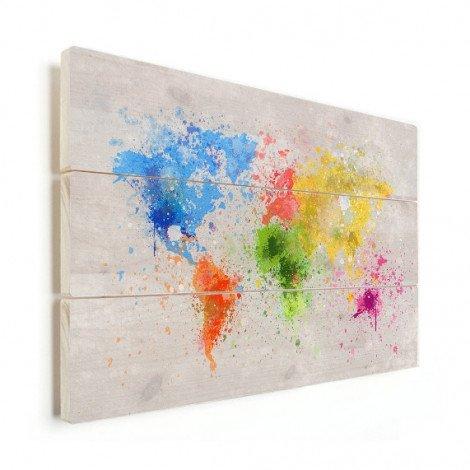 Encre colorée bois