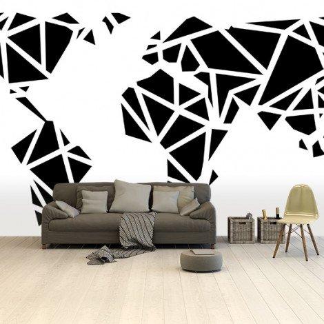 Géométrique noir papier peint