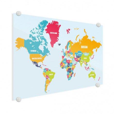 Noms des pays plexiglas