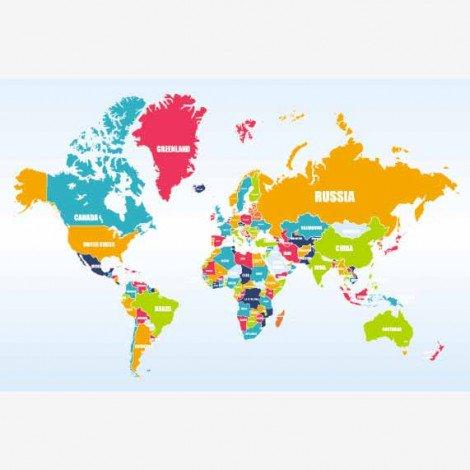 Noms des pays affiche