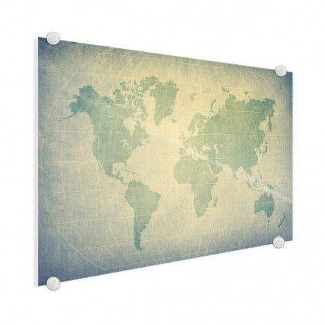 Parchemin vert sur plexiglas