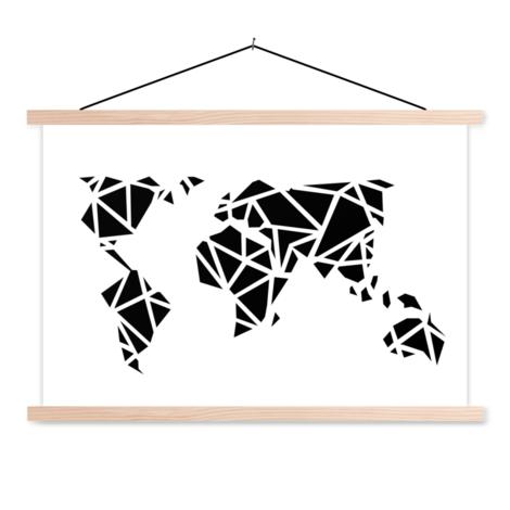 Géométrique noir affiche scolaire