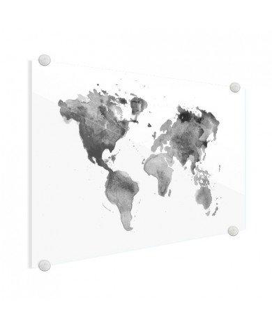 En aquarelle noir et blanc plexiglas