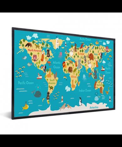 Continents et océans encadrée