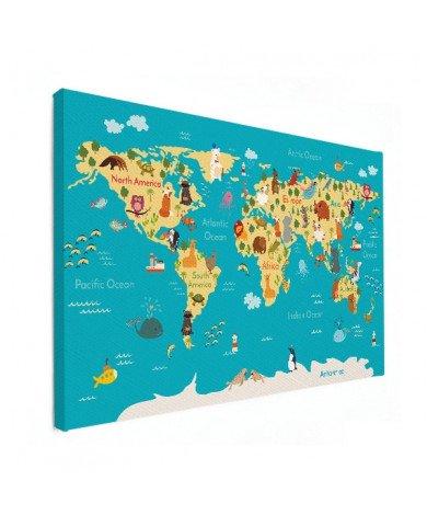 Continents et océans toile