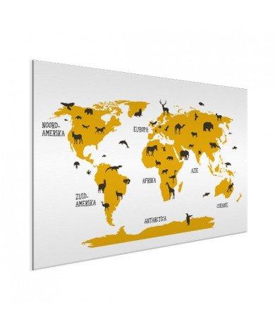 Animaux jaunes aluminium