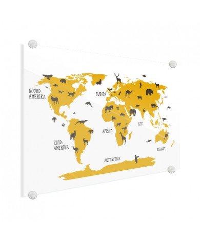 Animaux jaunes plexiglas