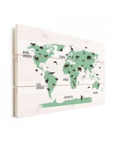 Animaux verts bois