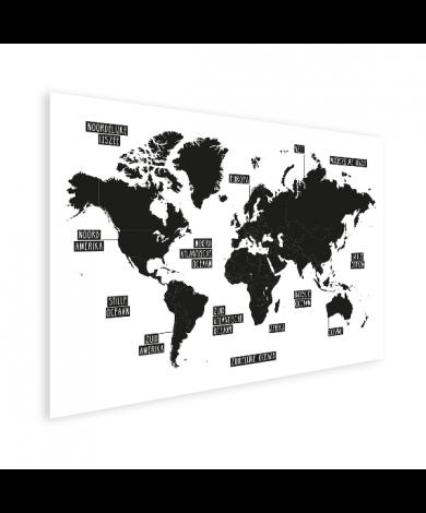 Simple noir et blanc affiche