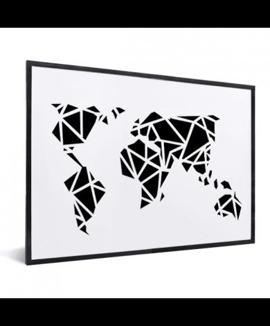 Géométrique noir encadrée
