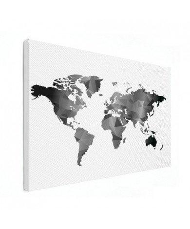 Géométrique en noir et blanc toile