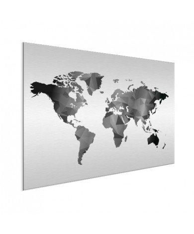 Géométrique en noir et blanc aluminium