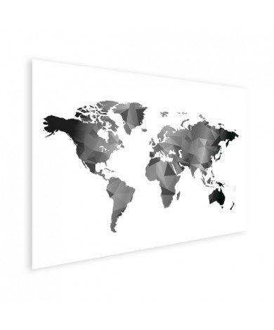 Géométrique en noir et blanc affiche