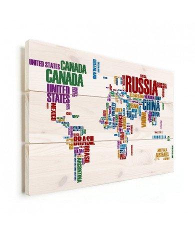Texte coloré bois