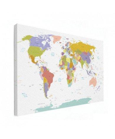 Tous les pays - pastel toile