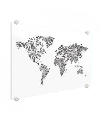 Avec empreinte digital noir et blanc plexiglas