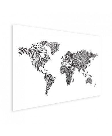 Avec empreinte digital noir et blanc affiche