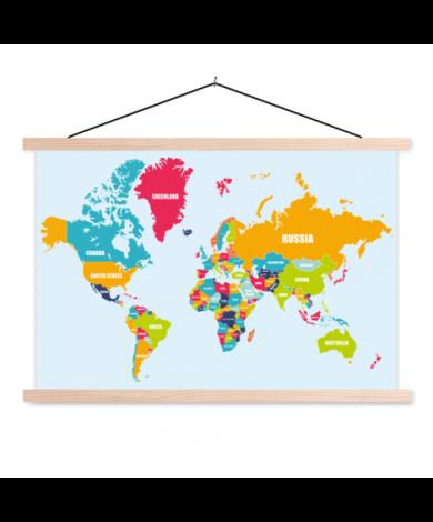 Noms des pays affiche scolaire