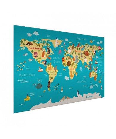Continents et océans aluminium