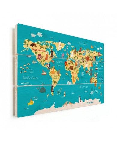 Continents et océans bois