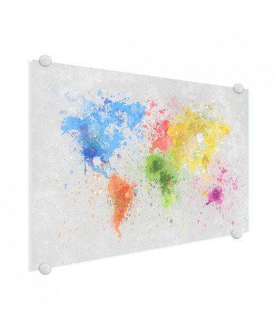 Encre colorée sur plexiglas