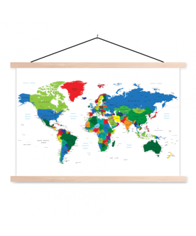 Tous les pays affiche scolaire