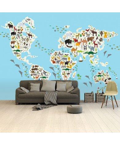 Avec les animaux papier peint