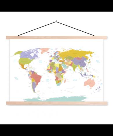 Tous les pays - pastel affiche scolaire