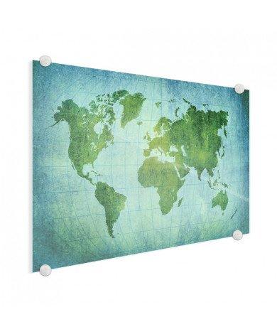 Parchemin vert puissant sur plexiglas