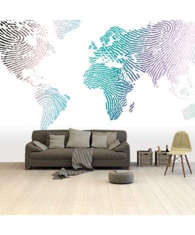 Empreinte digitale couleur papier peint